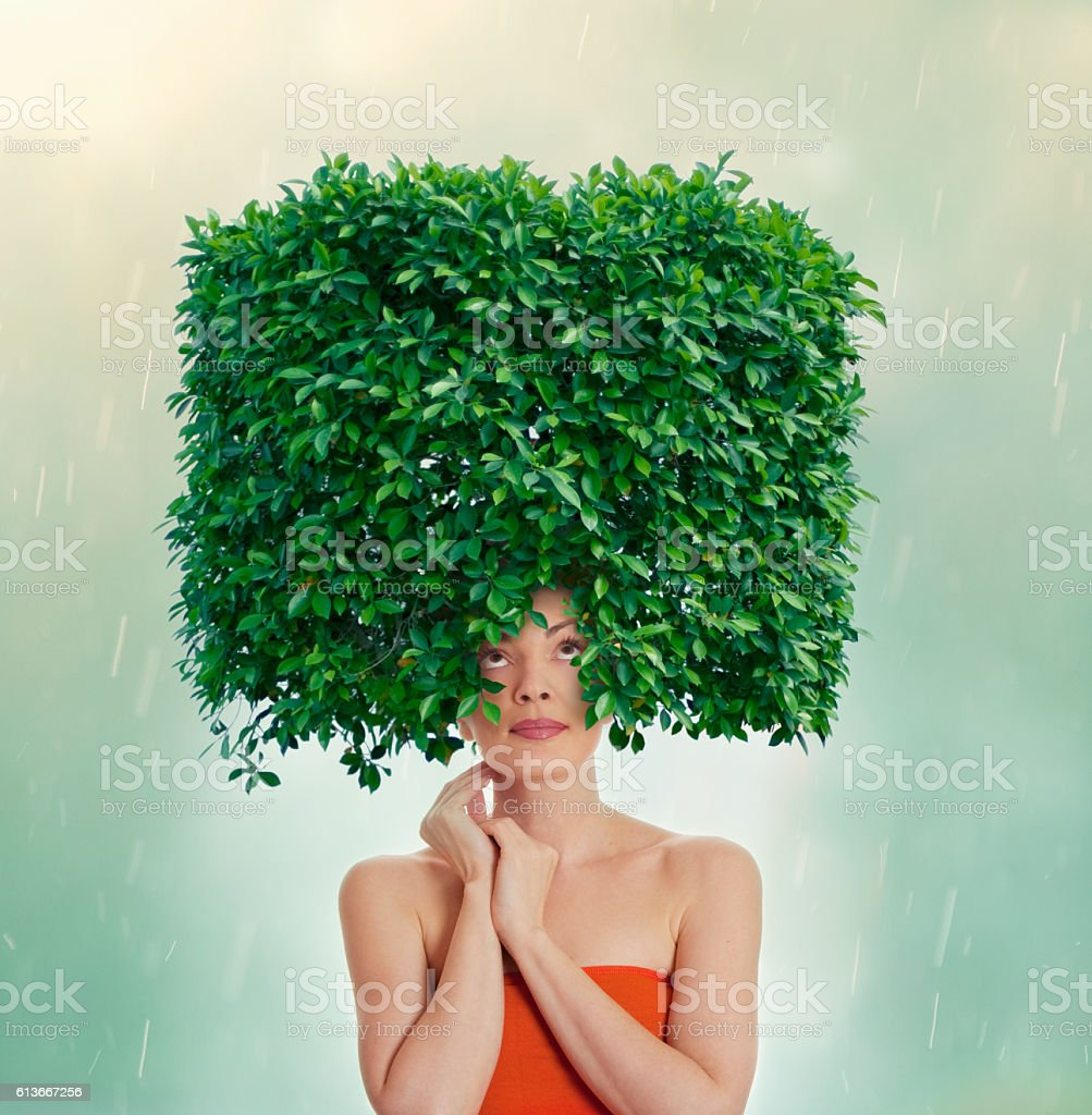 Happy hair stock photo