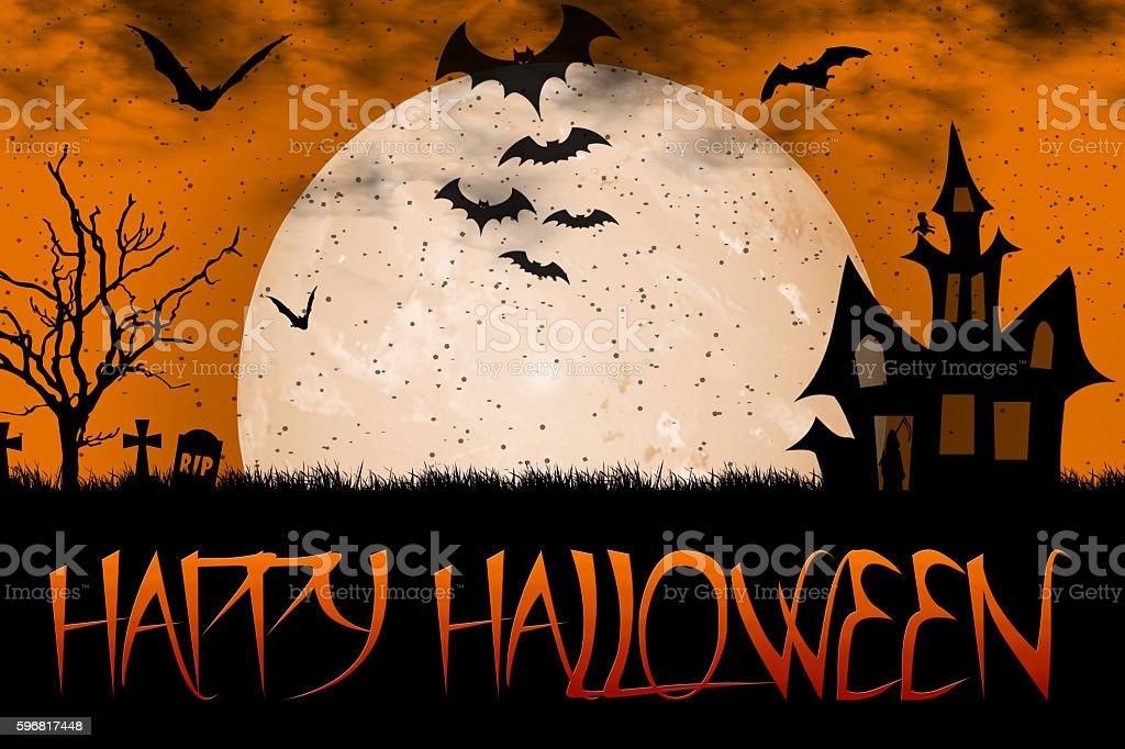 Happy Halloween 31 october stock photo