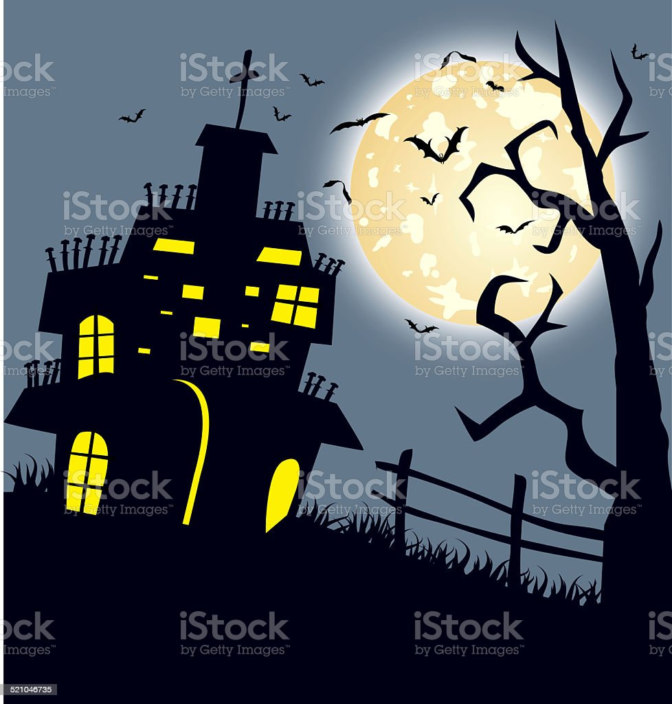 Happy Halloween Card Template stock photo