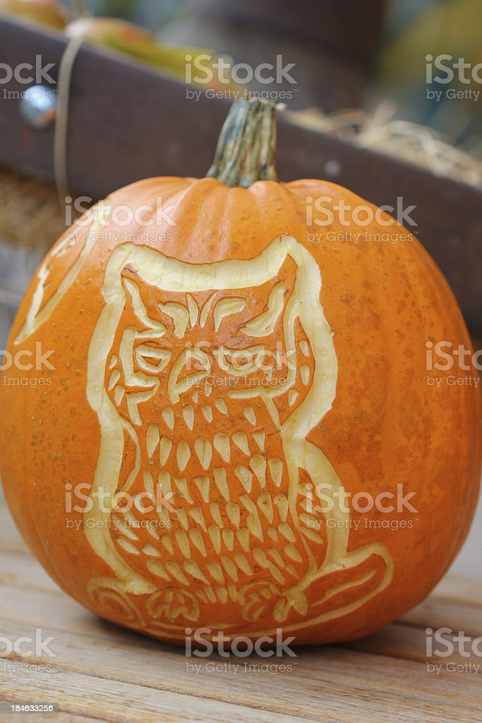 Happy Halloween pumpkin royalty-free stock photo