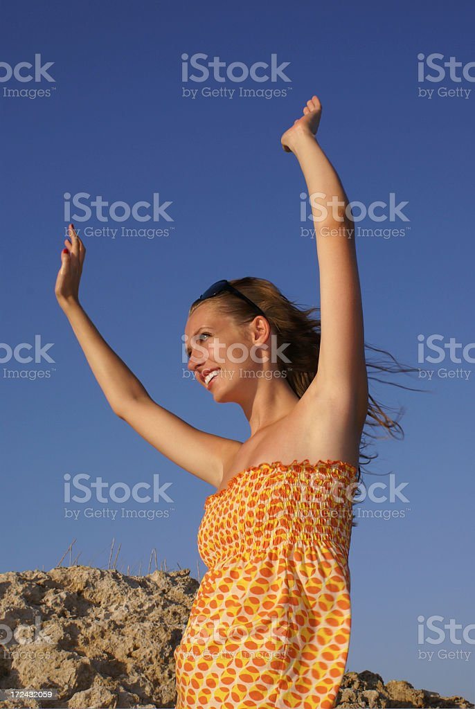 Happy Hands Up royalty-free stock photo
