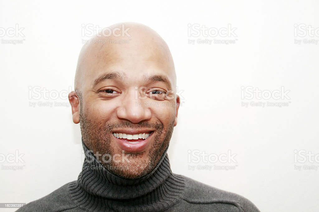 Happy Handsome Business Professional stock photo