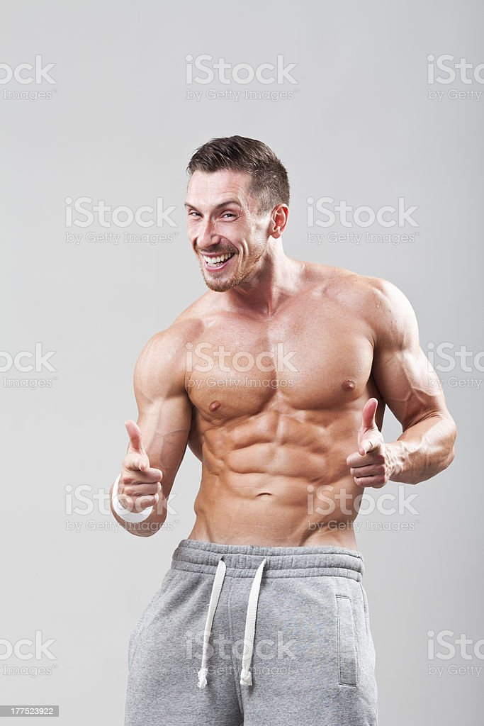 Happy handsome man royalty-free stock photo