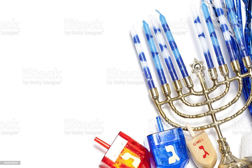 Happy Hanukkah stock photo