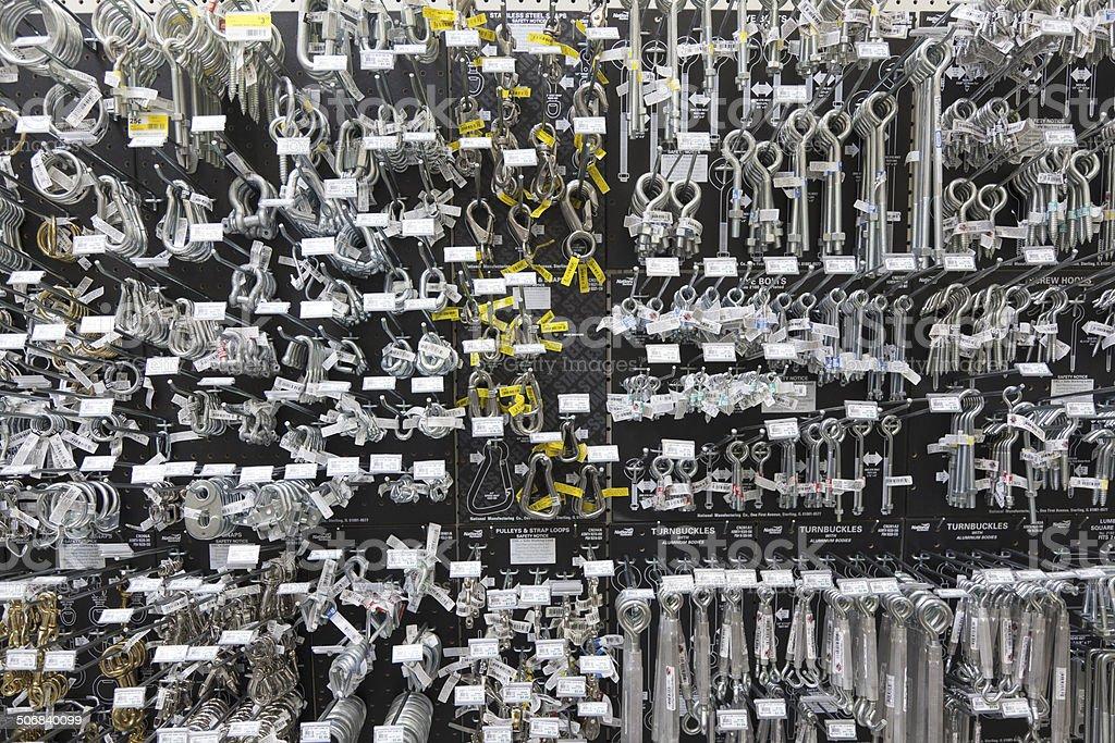 Happy Hardware Store Salesperson stock photo