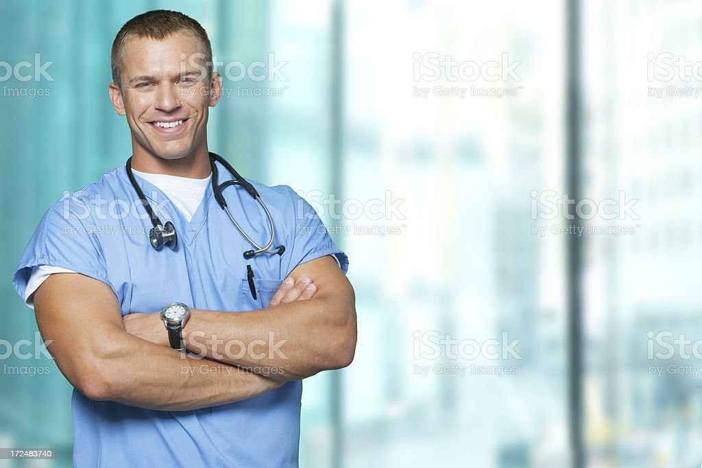 Happy healthcare professional stock photo