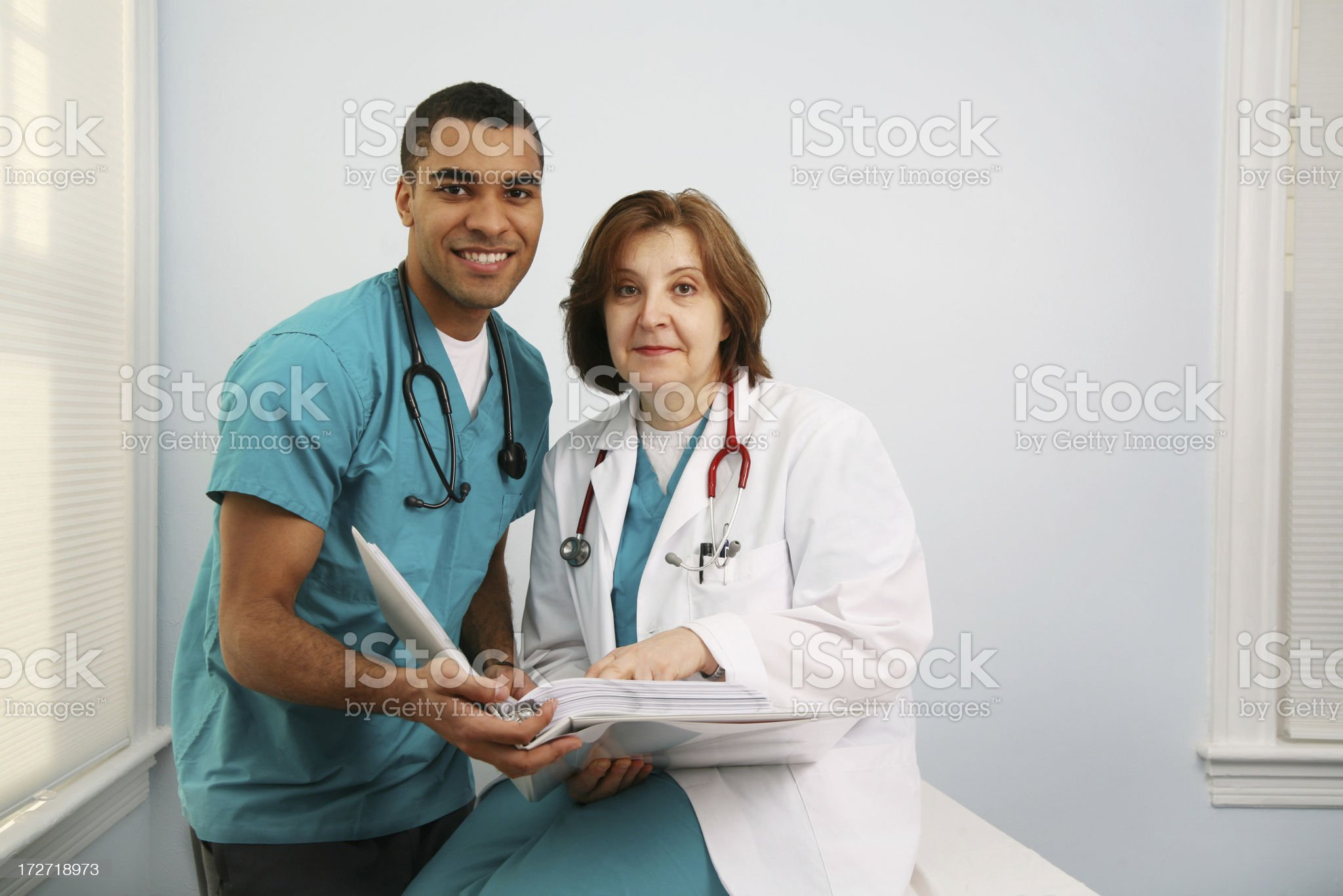 Happy healthcare workers royalty-free stock photo