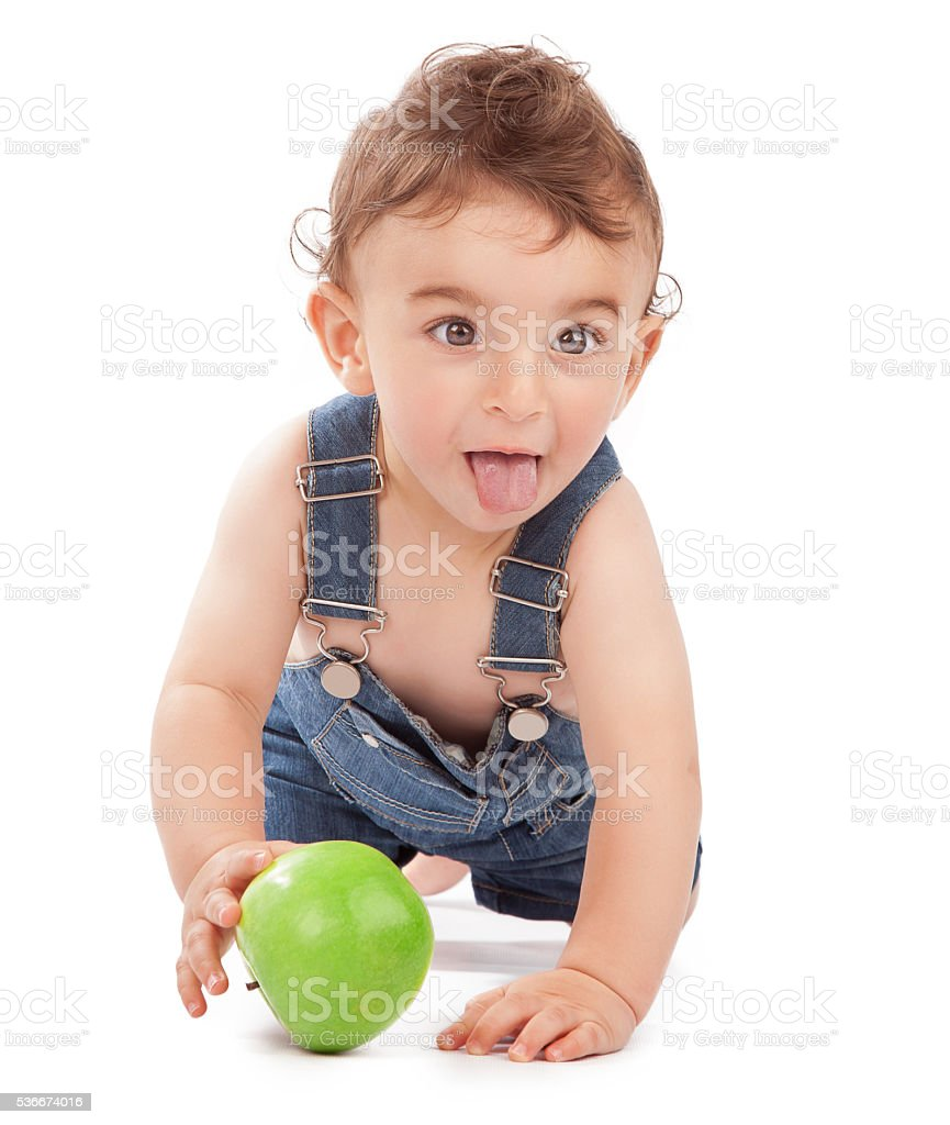 Happy healthy baby boy stock photo