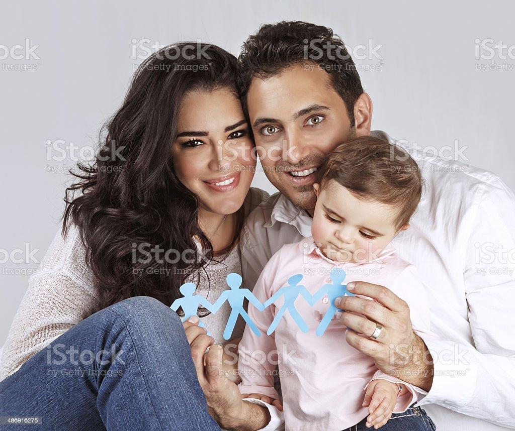 Happy healthy family stock photo