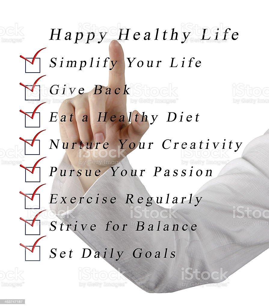 Happy healthy life royalty-free stock photo