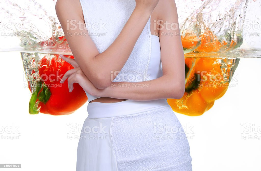 Happy, healthy women to lose weight .10 stock photo