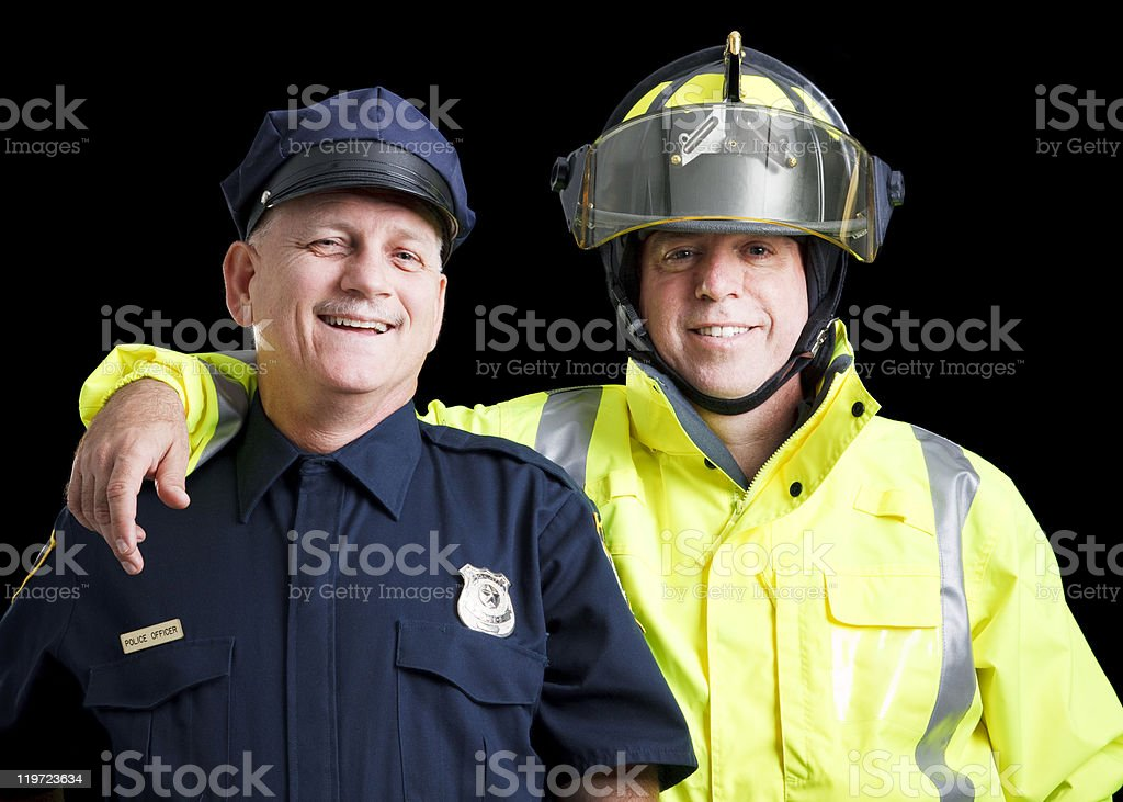 Happy Heroes royalty-free stock photo