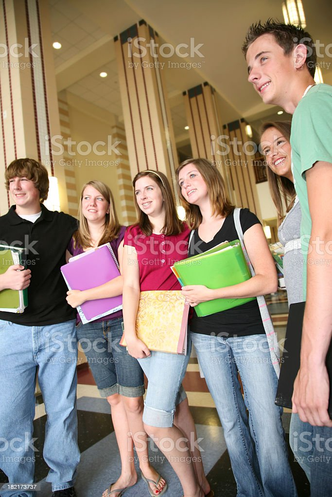 Happy High Schoolers at School royalty-free stock photo