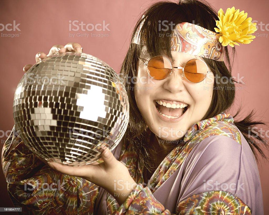 Happy hippie royalty-free stock photo