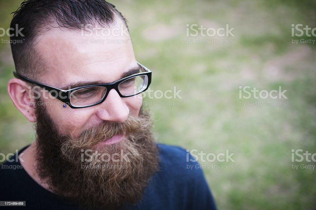 Happy hipster royalty-free stock photo