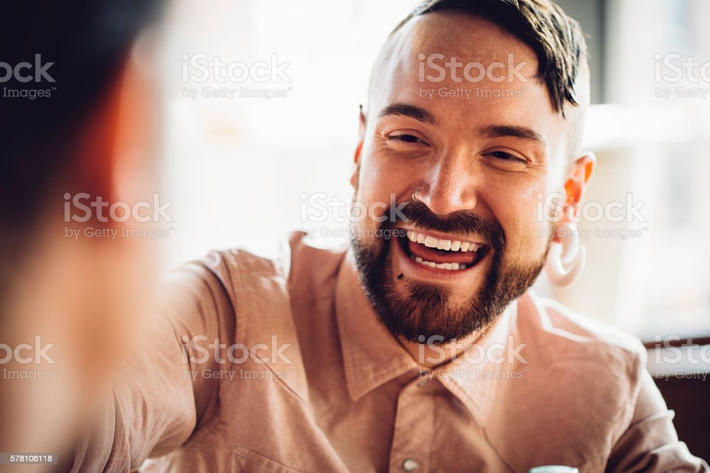 Happy Hipster stock photo