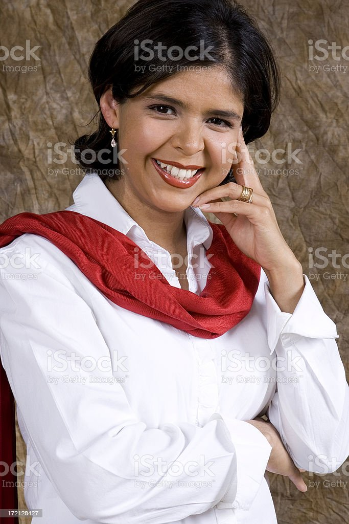 Happy Hispanic Businesswoman royalty-free stock photo