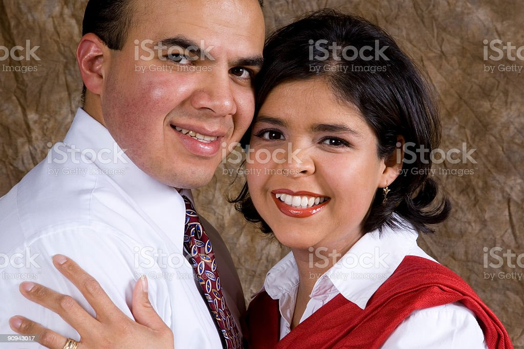 Happy Hispanic Couple royalty-free stock photo