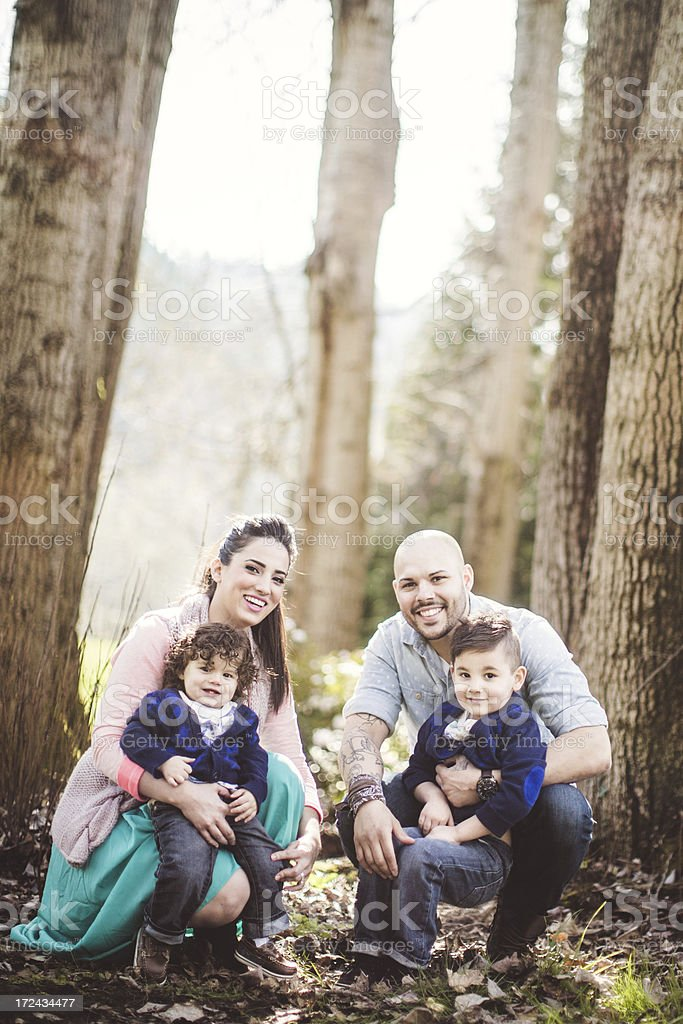 Happy Hispanic Family Having Fun royalty-free stock photo