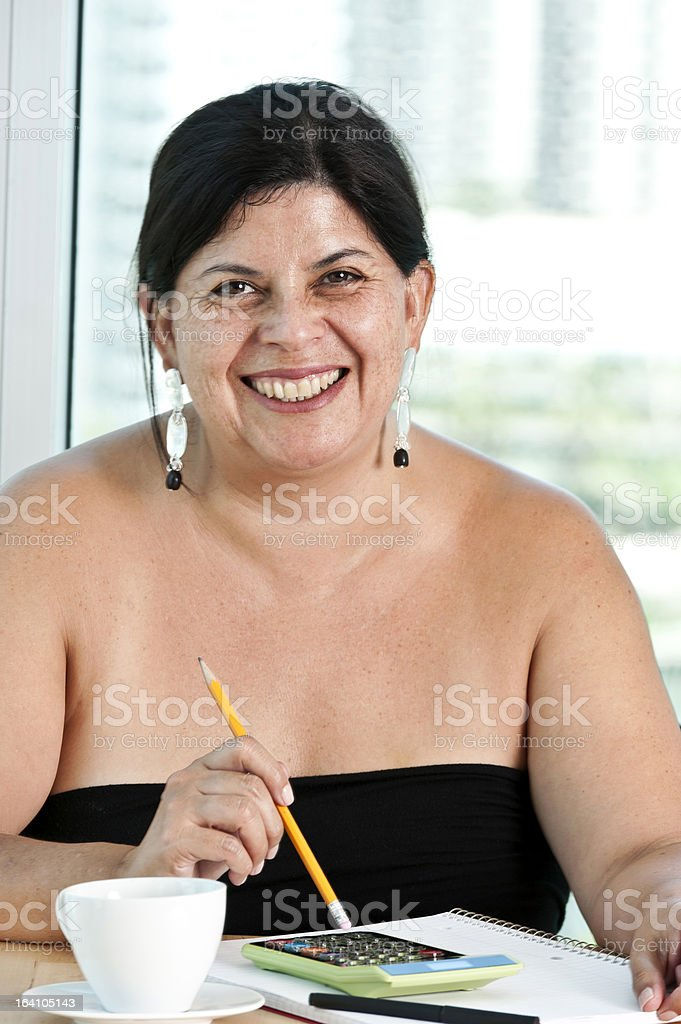 Happy hispanic woman royalty-free stock photo