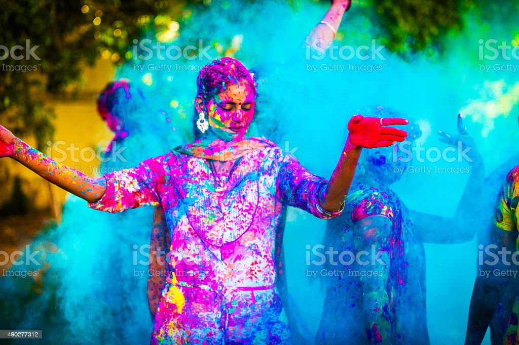 Happy Holi stock photo