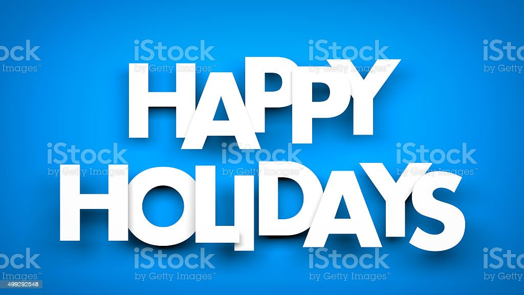 Happy Holidays background stock photo
