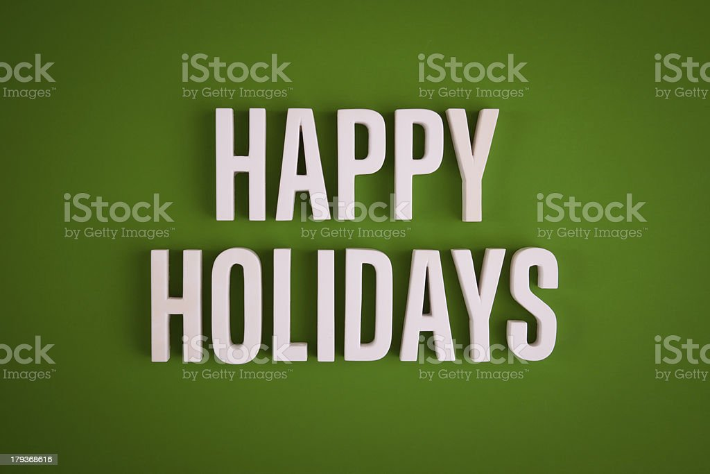 Happy Holidays sign lettering royalty-free stock photo