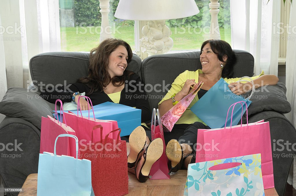 happy home after shopping royalty-free stock photo