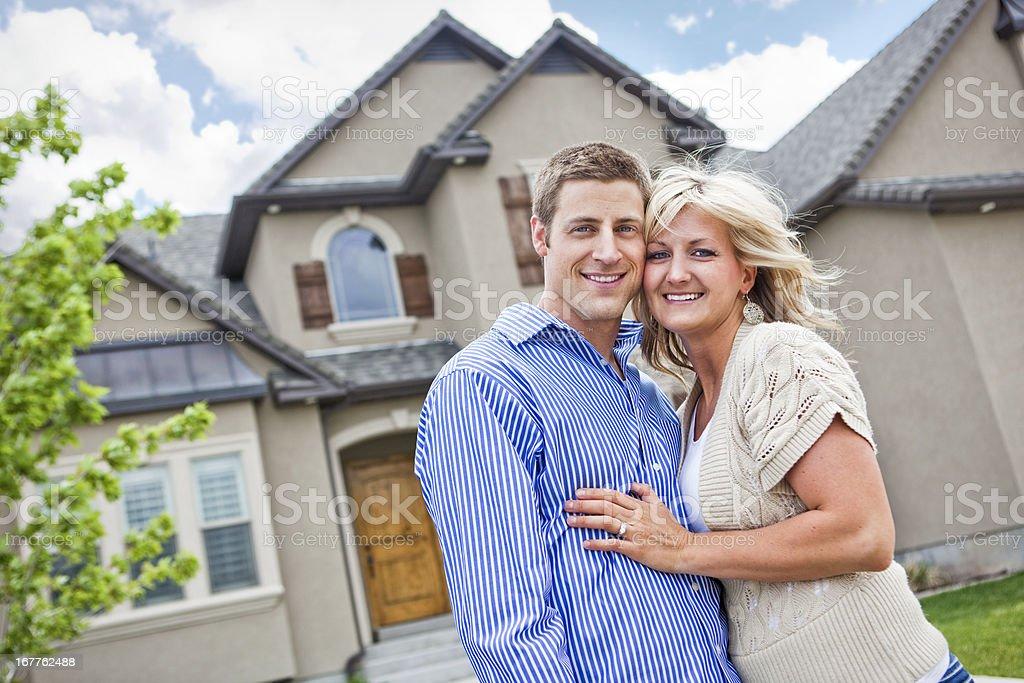 Happy Homeowners stock photo