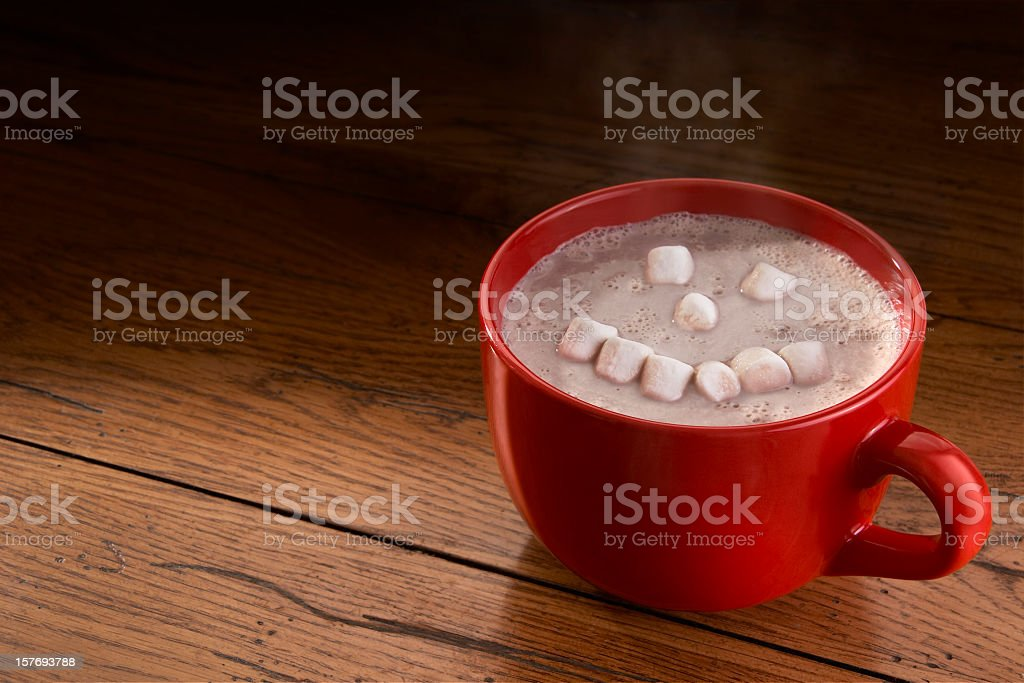 Happy Hot Chocolate stock photo