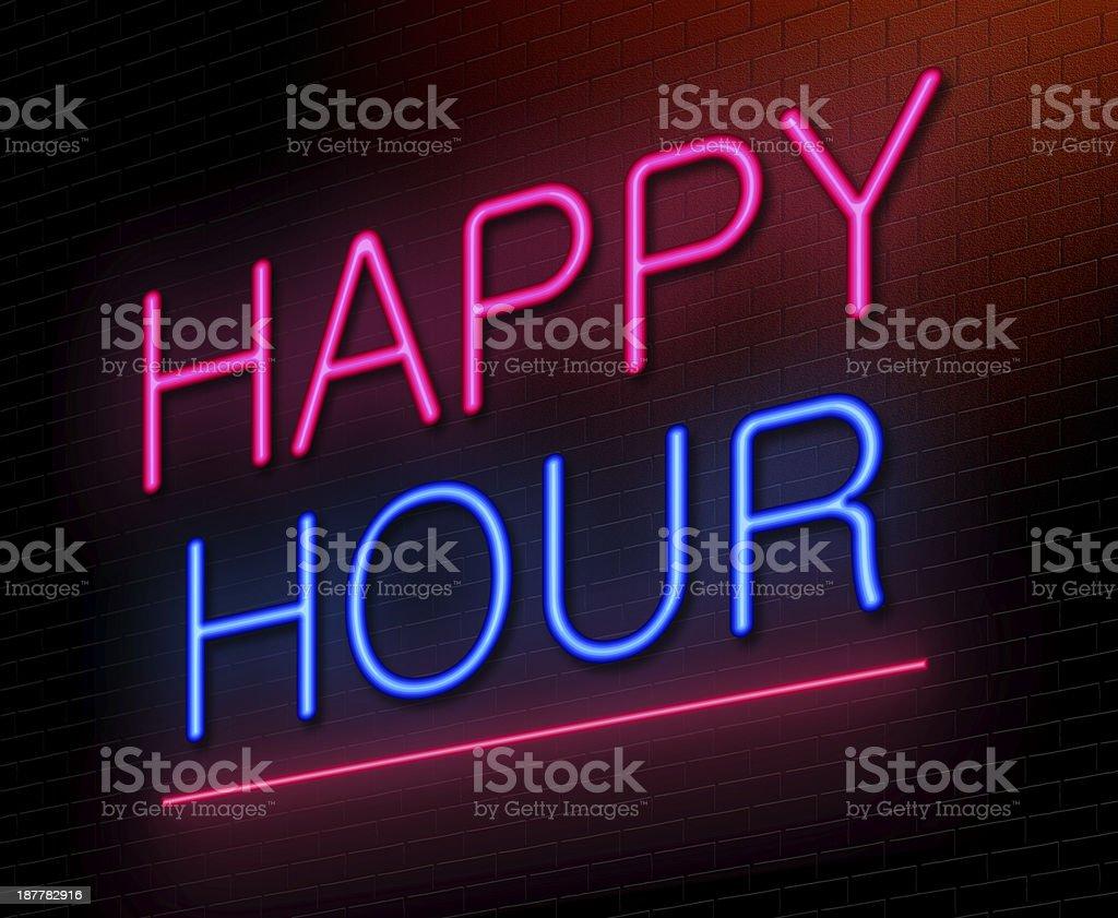Happy hour concept. stock photo