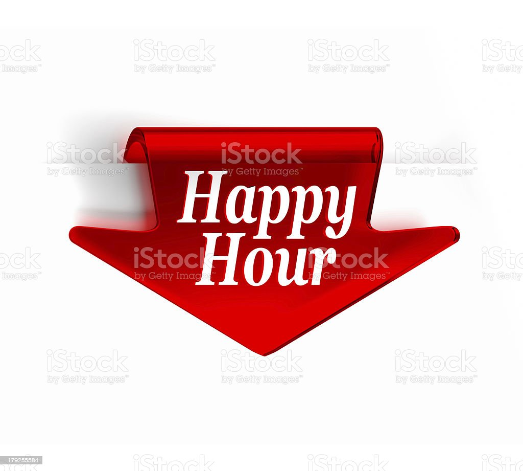 Happy Hour royalty-free stock photo