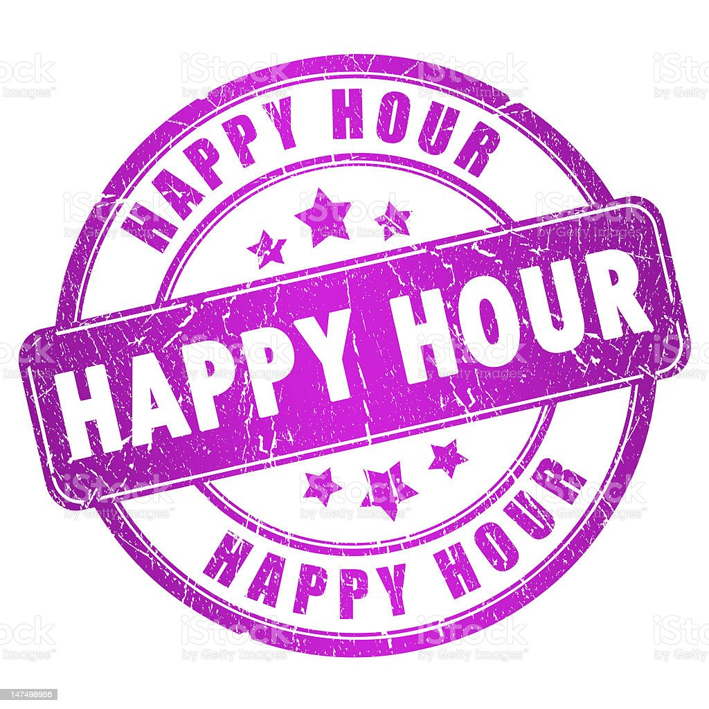Happy hour stamp royalty-free stock photo