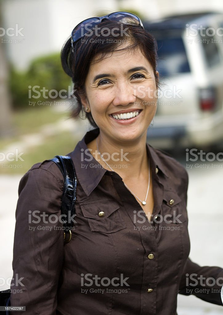 Happy Housewife royalty-free stock photo