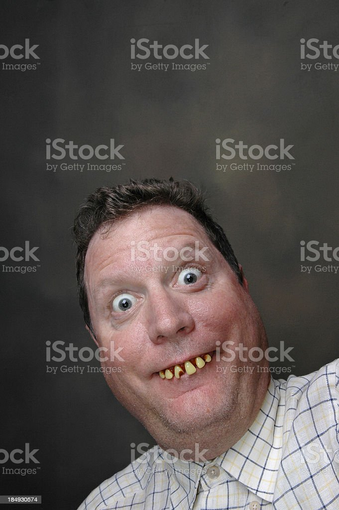 Happy Idiot stock photo