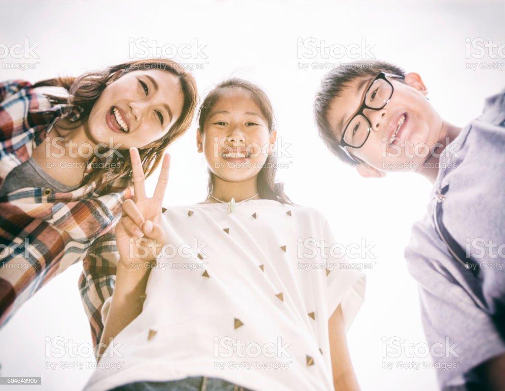 Happy in Hong Kong royalty-free stock photo