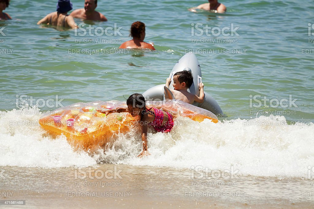 Happy in surf royalty-free stock photo