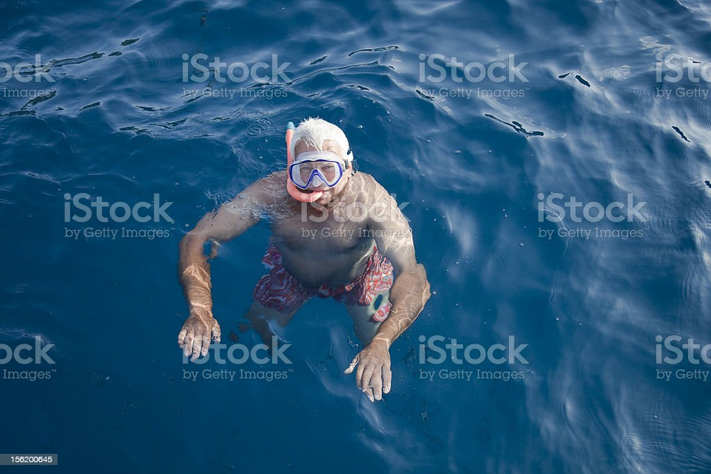Happy in the sea. royalty-free stock photo