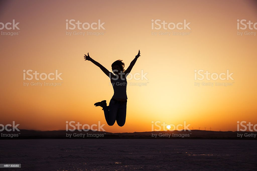 Happy in vacation stock photo