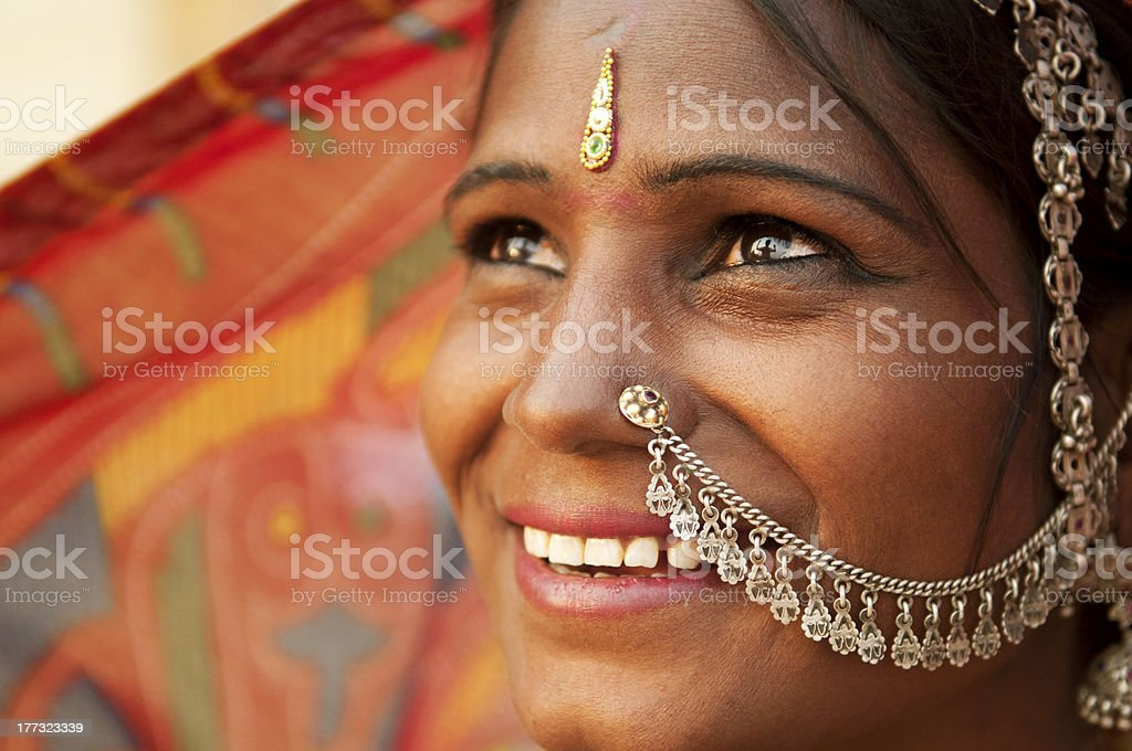Happy Indian woman royalty-free stock photo