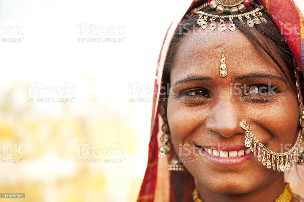 Happy Indian woman stock photo