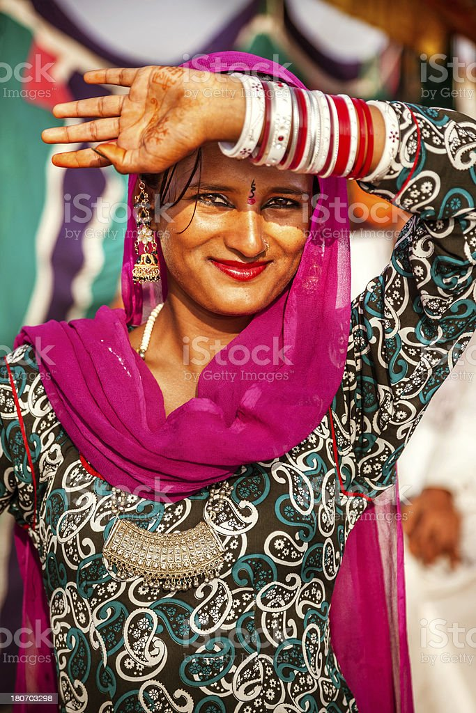 Happy Indian Young Woman royalty-free stock photo