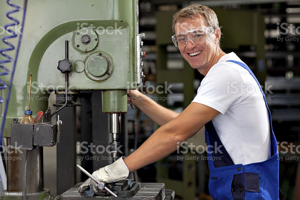 happy industrial worker royalty-free stock photo