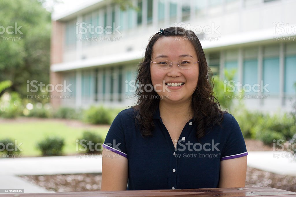 Happy International Student royalty-free stock photo