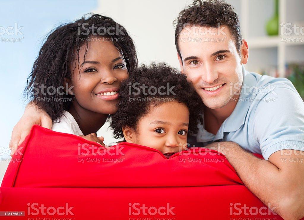 Happy Interracial Family royalty-free stock photo