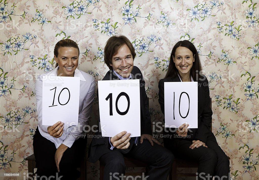 Happy judges stock photo