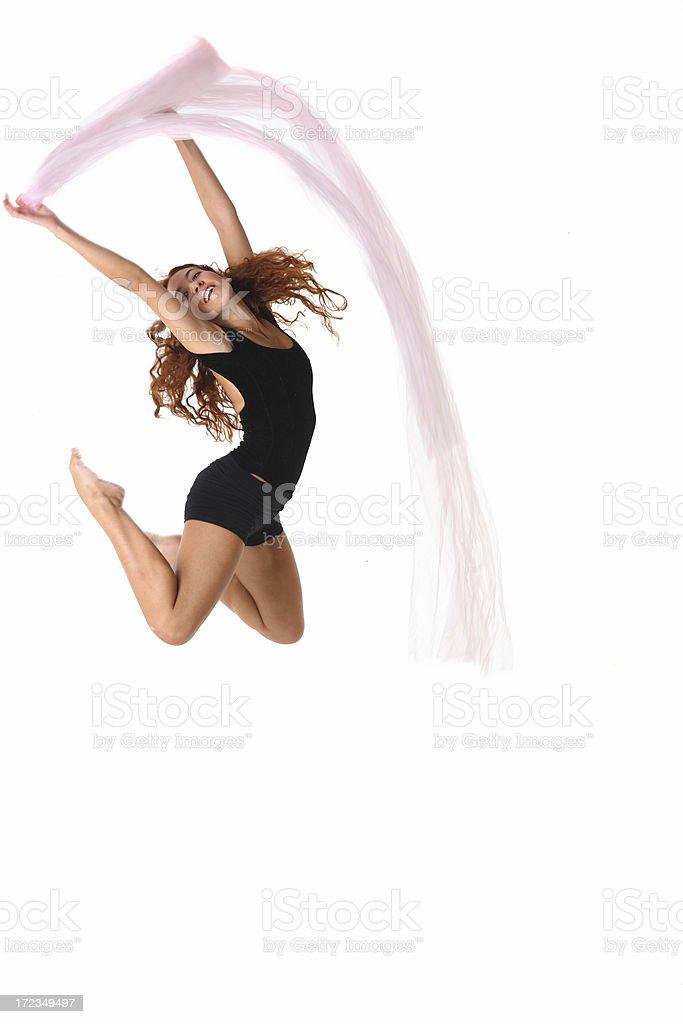 Happy jump stock photo