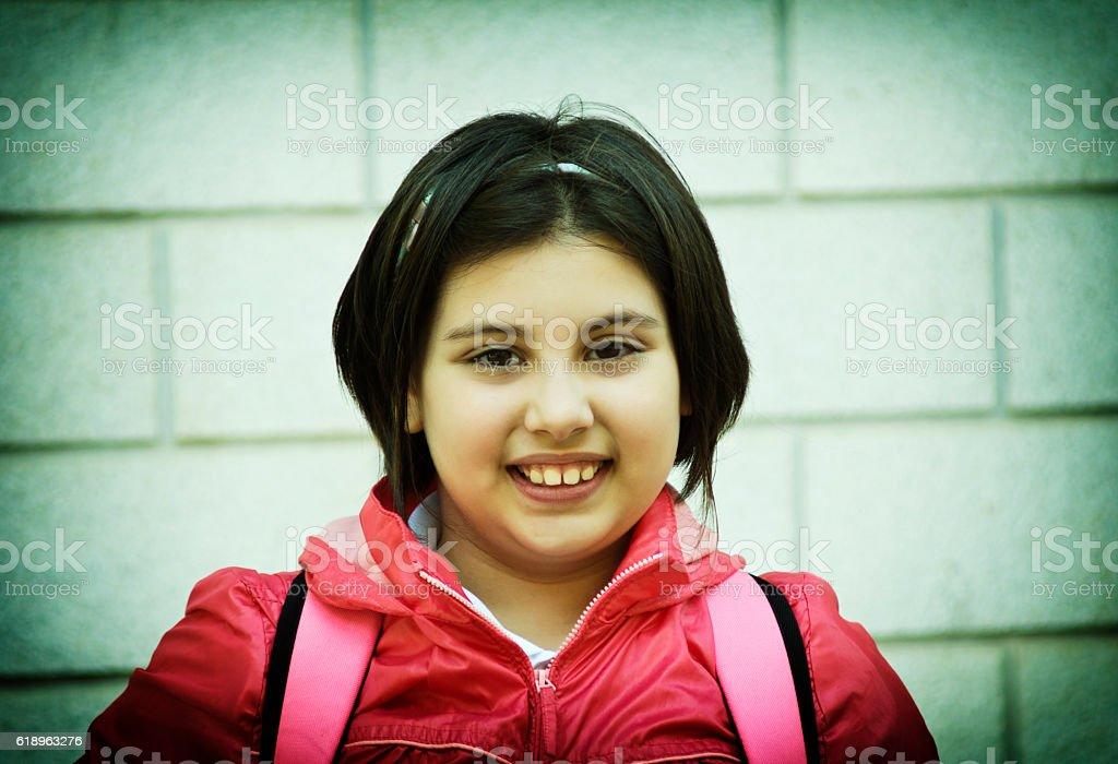 happy kid girl stock photo
