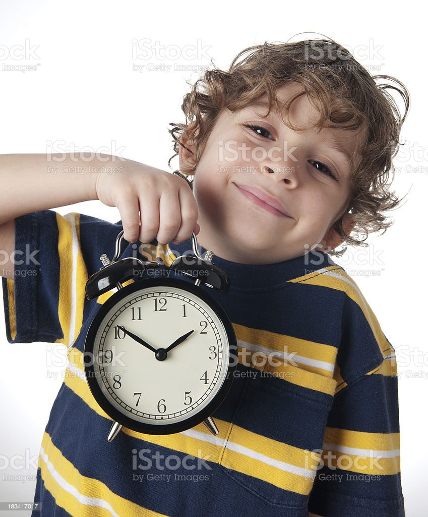 happy kid in time for playing stock photo