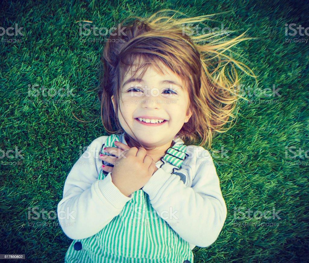 Happy kid stock photo